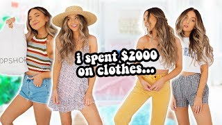 I spent way too much money on clothes... (brandy melville, urban outfitters, pacsun)