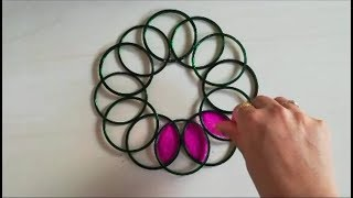 Innovative and creative rangoli design | easy rangoli by Yogita Garud