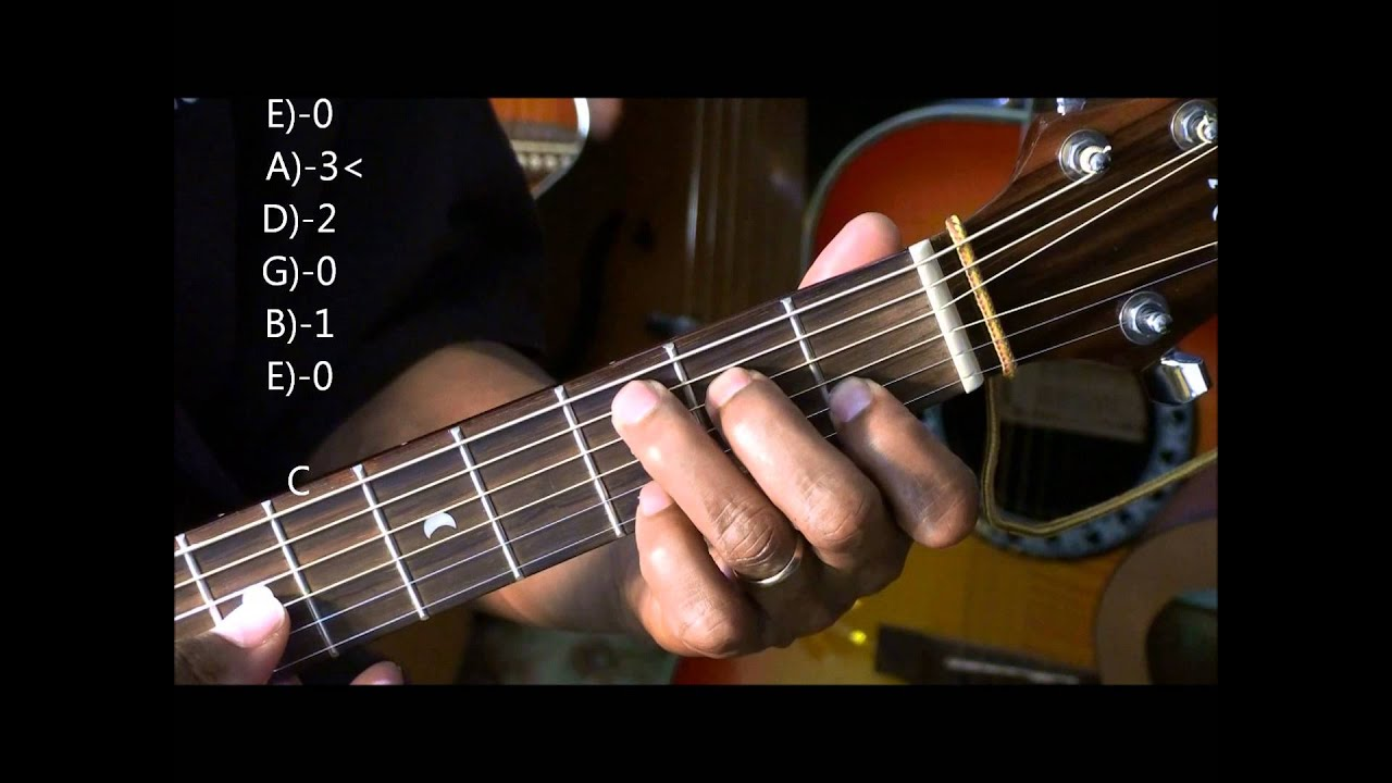 How To Play A Cool Folk Chord Progression Walk Down On Guitar Lesson