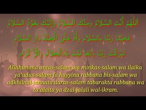 Allahumma Antassalam Wa Minkas Salam I Dzikir Setelah Shalat