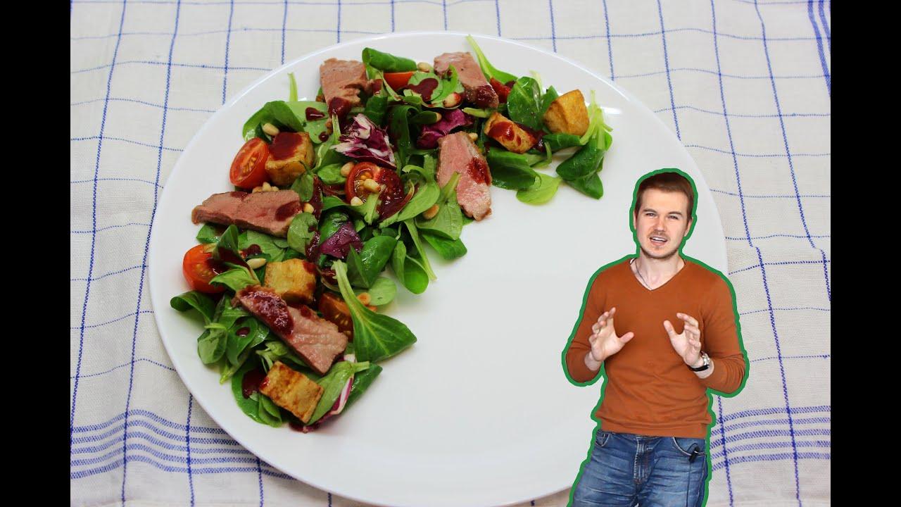 салат с уткой теплый