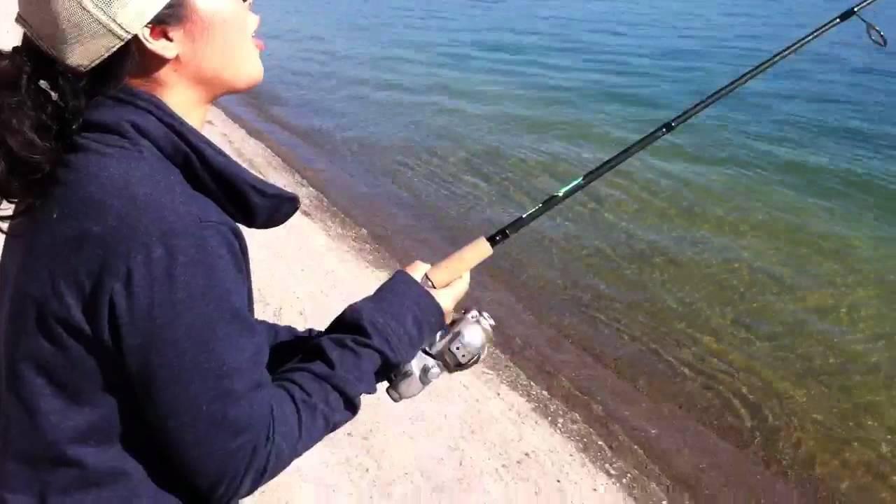 Striper at castaic lake dam youtube for Castaic lake fishing