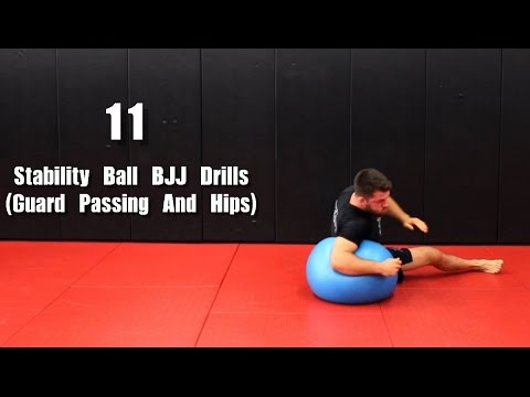 11 Solo BJJ Drills W/ Stability Ball (Guard Passing And Hips)