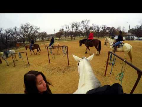 Holiday Horse Ride! First time riding a horse... Ever! Filmed at Marshall Creek Ranch, TX ( GoPro )