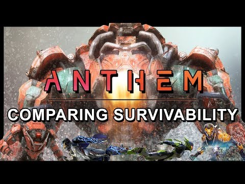 Anthem - How Much PUNISHMENT can each Javelin Take? | Colossus Shieldless?