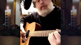 Lær at spille Dejlig er den himmelblå som fingerspils akkompagnement i D-dur