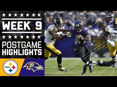 Steelers vs. Ravens | NFL Week 9 Game Highlights