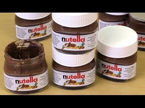Cute Mini Nutella Glasses aka Nutella World