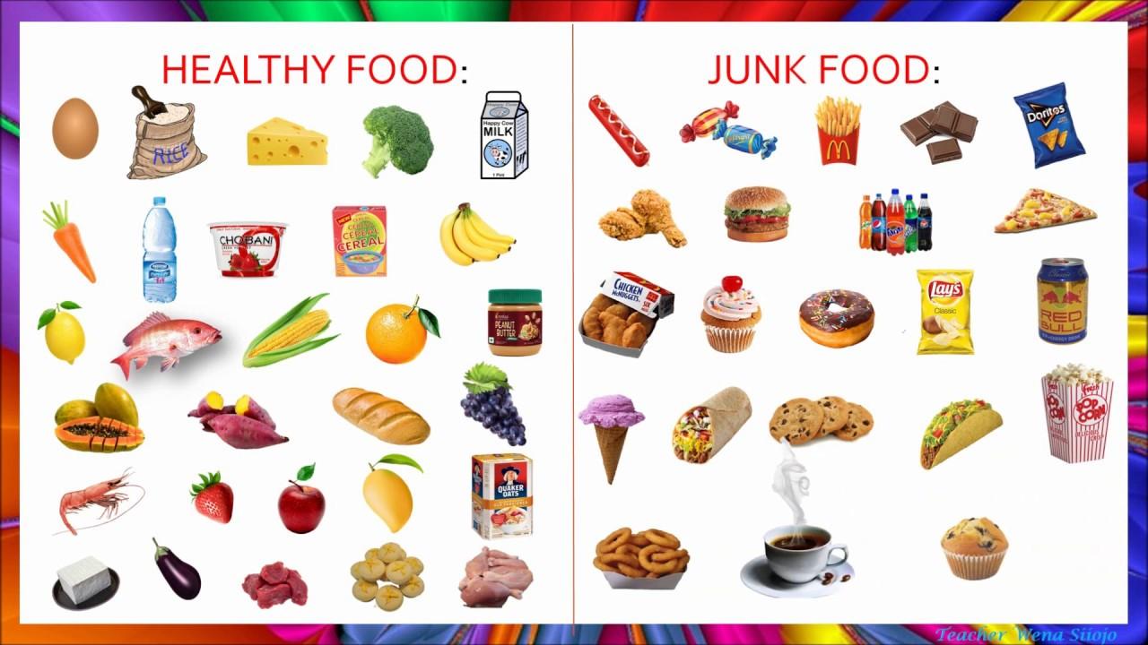 Healthy Food VS Junk Food in TAGALOG # 84 - YouTube