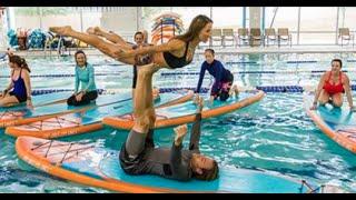 Aqua Yoga at the Jewish Community Center