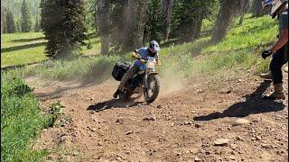 TW200 Motocamping Hill Climb