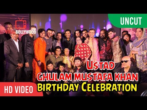 UNCUT - Ustad Ghulam Mustafa Khan 87th Birthday Celebration | Sonu Nigam, Javed Akhtar And More