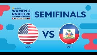 CU20W Semifinals: United States vs Haiti