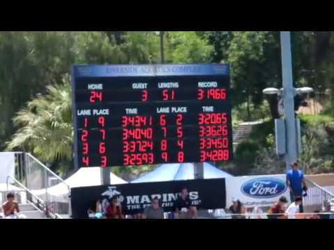 2018 CIF-SS Swimming Division 4 Prelims - Boys 400 Yards Freestyle Relay