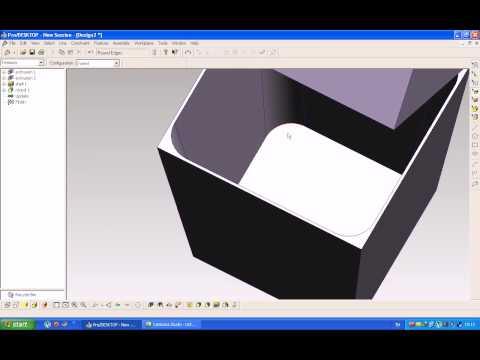 #งานชิ้นที่ 5 : ถังขยะเหลี่ยม ( PTC ProDESKTOP 8.0)