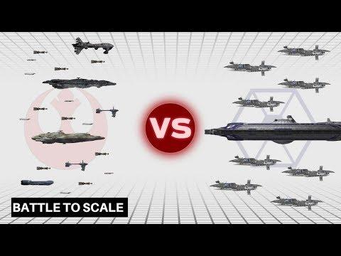 Separatist Fleet at Ryloth vs. Rebel Alliance Fleet at Kamino | Star Wars: Fleet Battles