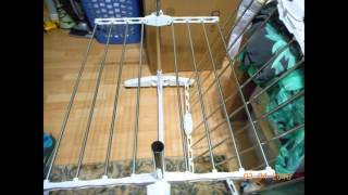 Todeco Foldable Laundry Drying Clothes Rack