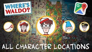 wheres waldo? in google maps all character locations