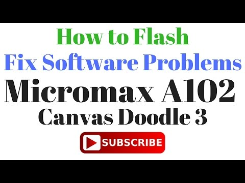 How to Flash OR Fix Software Problems Micromax A102 V8 2 5