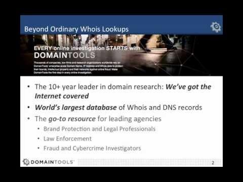 DomainTools Whois Tutorial