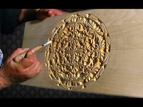 Геометрическая резьба по дереву (3D) Часть 1 (не для начинающих)