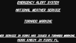EAS tornado warning issued for miami dade county FL.