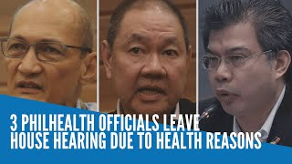 3 PhilHealth officials leave House hearing due to health reasons