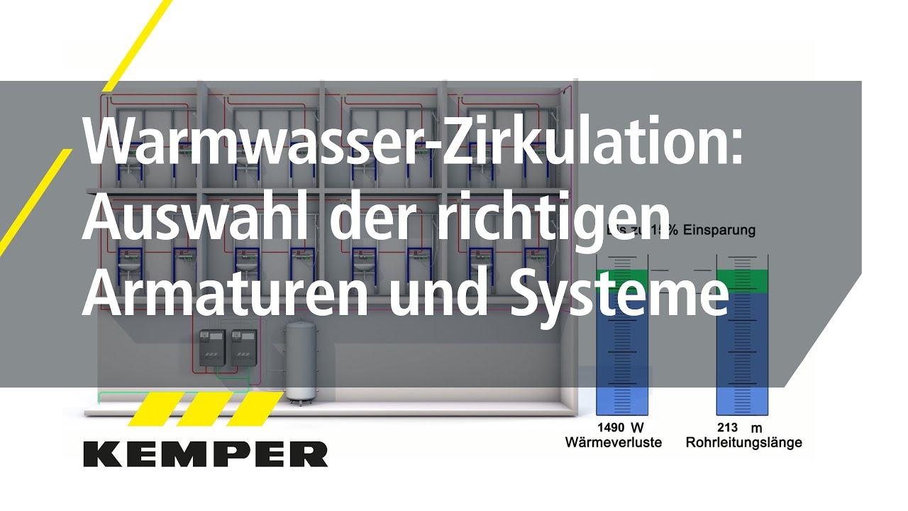 Youtube Video: Warmwasser-Zirkulation: Auswahl der richtigen Armaturen und Systeme
