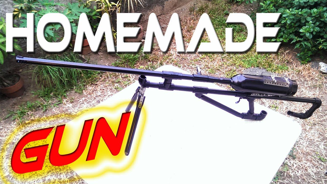 $10 Homemade Gun Sniper Rifle - alcohol powered)
