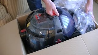 bissell hydroclean complete deep cleaner vacuum unboxing