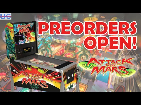 FINALLY! Attack from Mars Preorders Now Live | Arcade1up Pinball from Unqualified Critics