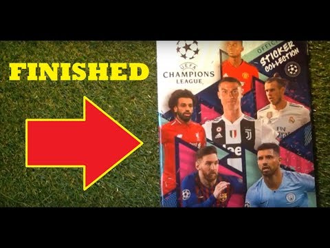 2608c5de9ef Topps UEFA Champions League Sticker Album (2018 19) Finished - YouTube
