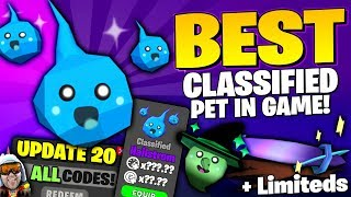 BEST CLASSIFIED PET HAILSTROM + ALL CODES Robux Witch Cursed Orbit Roblox Ghost Simulator Update 20