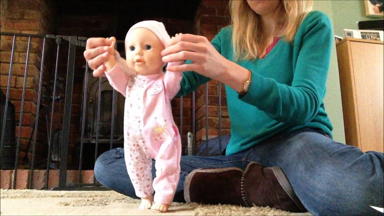 baby annabell learns to walk - YouTube