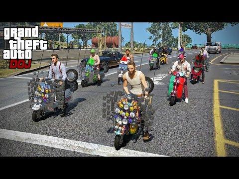 GTA 5 Roleplay - DOJ 286 - Moped Memorial Run (Civilian)