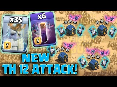 New Mass Royal Ghost Attack | 35 Royal Ghost + 6 Bat Spell :: NEW TH12 WAR 3STAR STRATEGY 2019 | COC