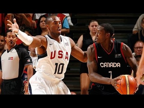 Canada vs USA 2008 Olympics Men's Basketball Exhibition Friendly Match FULL GAME English
