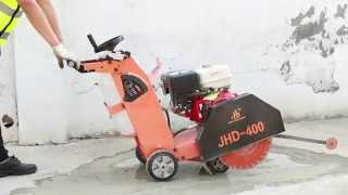 Jhd Cutter Operating Concrete Asphalt Saw