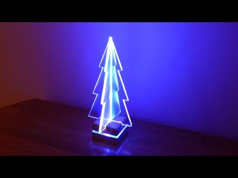 How to Make an Acrylic LED Edge Light Christmas Tree
