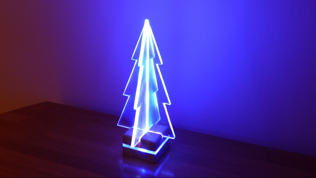 How To Make An Acrylic LED Edge Light Christmas Tree