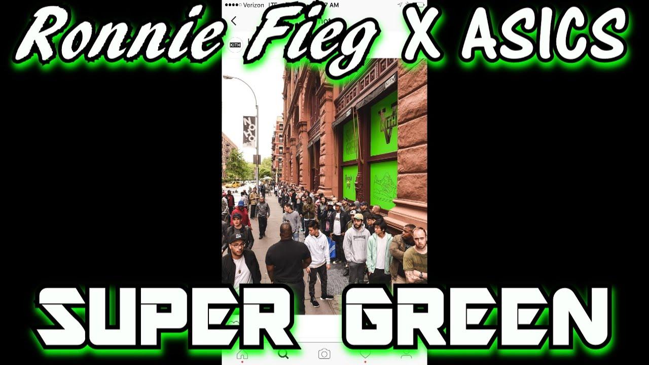 4f5631b40b29 ronnie fieg kith asics gel lyte iii super green
