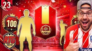 OMG MY TOP 100 FUT CHAMPIONS REWARDS! FIFA 19 Ultimate Team RTG #23