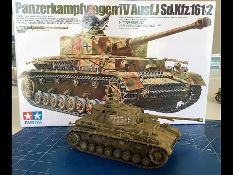 Building the Tamiya Panzer IV Ausf J including painting and weathering