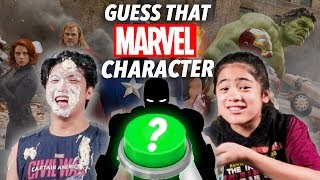 MESSY GUESS THAT MARVEL CHARACTER CHALLENGE!! | Ranz and Niana