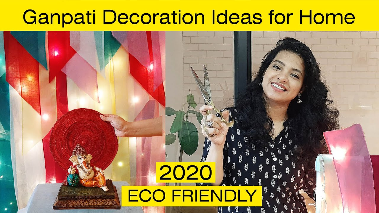 3 Amazing- Ganpati Decoration Ideas for Home | Eco Friendly Ganpati Decoration| गणपति डेकोरेशन 2020