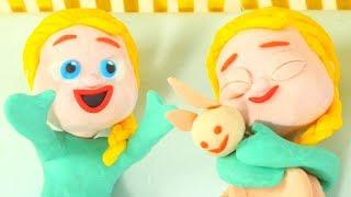 Baby Elsa Sleeps ❤ Frozen Elsa Cartoons For Kids ❤ Play Doh Cartoons & Stop Motion Movies