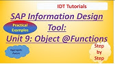 BusinessObjects Report Design II : Unit 4c :Practical Examples