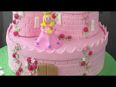 How To Make A Princess Castle Cake Part 2 Youtube