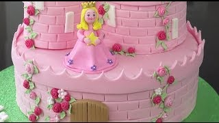 How To Make A Princess Castle Cake - Part 2