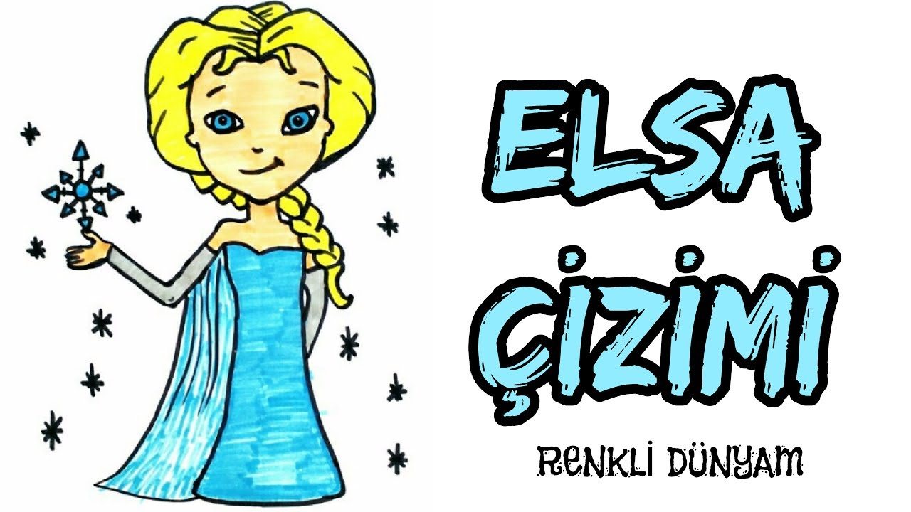 Frozen Elsa Nasil Cizilir Elsa Cizimi How To Draw Frozen Elsa